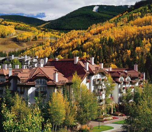 Sonnenalp Hotel in Vail, Colorado is a skiers paradise. Only a few steps from the slopes of Vail.