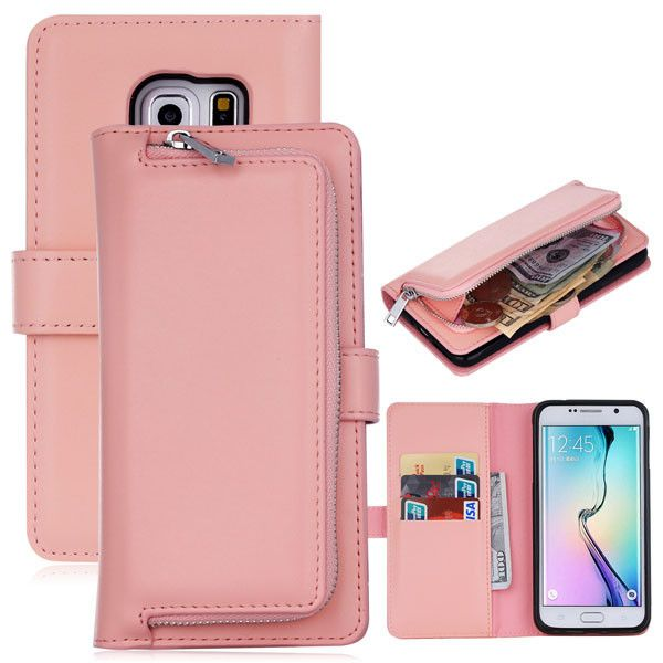 Multifunction Leather Flip For Samsung Galaxy S6 S7 S8 edge S5 Cover 2 in1 Removable Wallet Case