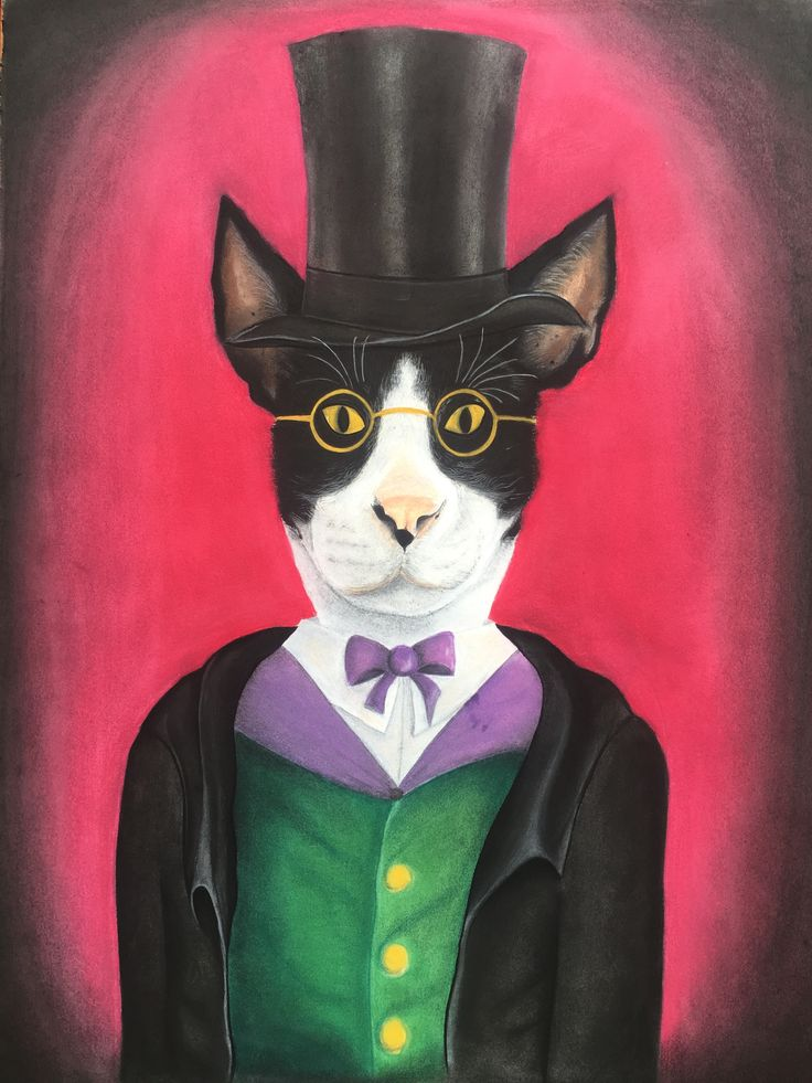 Sir Kitty Charcoal and Pastel, 82 x 62 cm