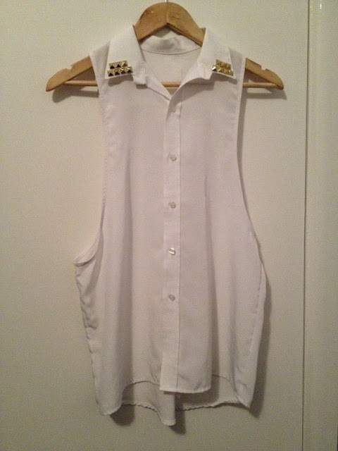AD+SH DIY Fashion Blog: DIY Studded Vest from a White Men's Shirt