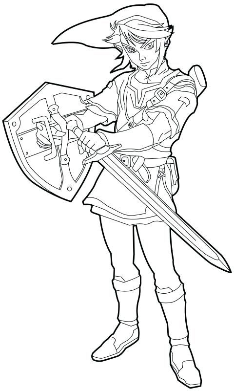 The Legend Of Zelda Coloring Pages Breath Wild Colouring Gambar