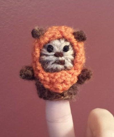 Star Wars crochet finger puppet patterns. Includes patterns for all 4 characters. **This listing is for separate PDF patterns with instructions and pictures on making the C3PO, R2D2, Ewok, and Yoda finger puppets not the items themselves** Patterns can be downloaded immediately after purchase. Finished products are approximately: (C3PO 2 x 3.25) (R2D2 2.25 x 2.25) (Ewok 2 x 2) (Yoda 3.5 x 2.75) Materials needed: - Small amounts of worsted weight yarn in black, light gray, dark brown…