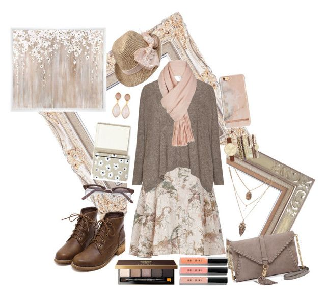 """""""Not-boring Beige."""" by caro-lion on Polyvore featuring Melissa McCarthy Seven7, Free People, Dina Mackney, Jessica Carlyle, Bobbi Brown Cosmetics, Milly, Kate Spade, PTM Images and plus size clothing"""