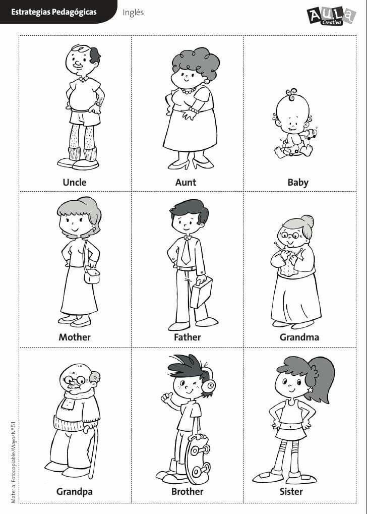 Pin By Darkblue On 3 Ingilizce Family Worksheet Preschool Family Family Tree Worksheet Family members worksheet for preschool