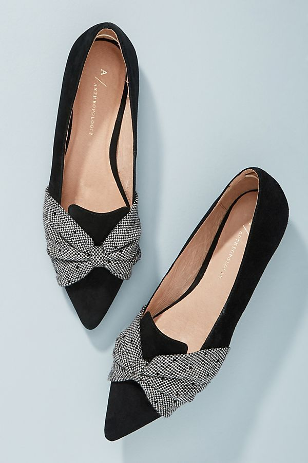 Black Knotted Bow Flats | Trending