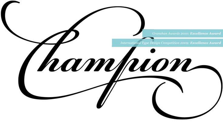 Champion Script Pro | parachutefonts.com