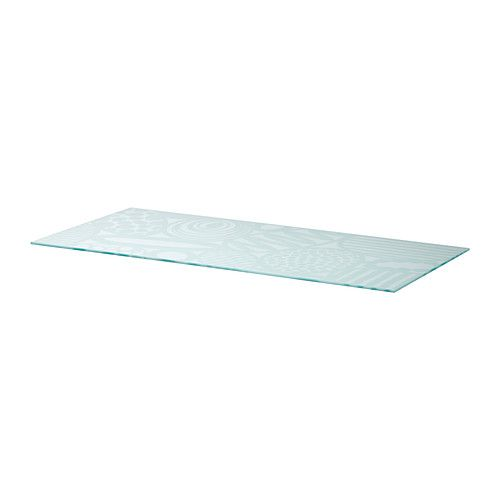 VIKA GLASHOLM Table top IKEA A table top in tempered glass is stain resistant and easy to keep clean.