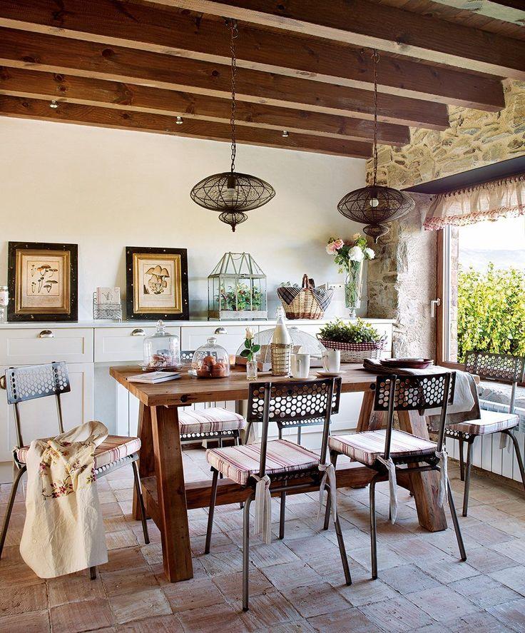 As 25 melhores ideias de mesa r stica no pinterest mesa for Sala de estar rustica y moderna