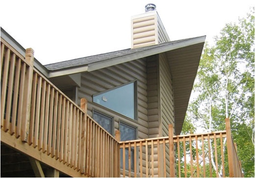 United States Seamless® -Northwoods Collection™ Log Cabin Seamless Steel Siding - Driftwood