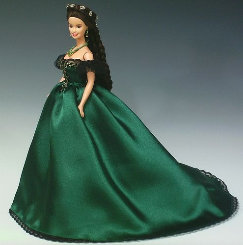 Sissi Barbie in green ball gown by Bavarian Dolls, via Flickr
