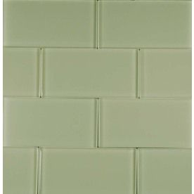 EPOCH Architectural Surfaces 5-Pack 12-in x 12-in Riverz Green Glass Wall Tile