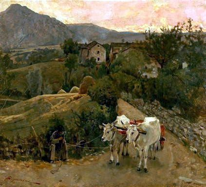 """Buoi a Pietramala"" 1890, Telemaco Signorini Galleria d'Arte moderna di Milano"