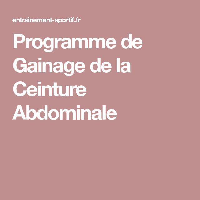 Programme de Gainage de la Ceinture Abdominale