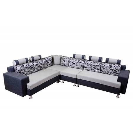 Nice Mango Wood L Shape Sofa Set (Multicolor)   Pirodia Furniture