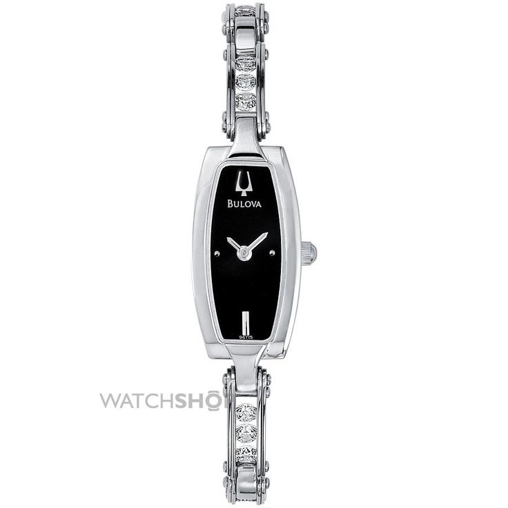 Ladies Bulova Crystal Watch 96T15