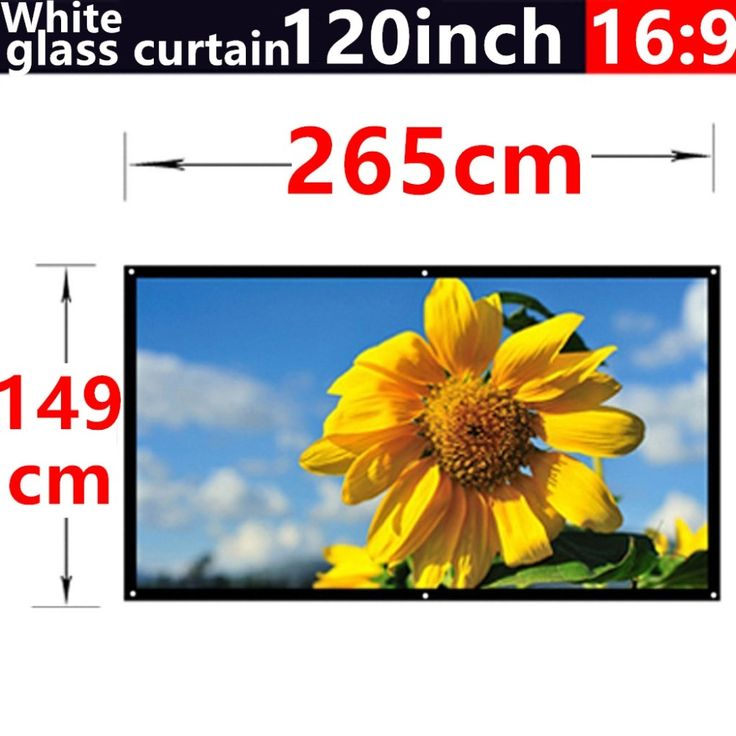 77.77$  Watch now - http://aliz1d.worldwells.pw/go.php?t=32618461244 - 2016 new aarive 120 Inches 16:9 White glass curtain Projector Screen Suitable for HD 3D LED Smart Movie home theater Projector #hometheaterprojectormount