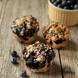 The way blueberry muffins should be made.