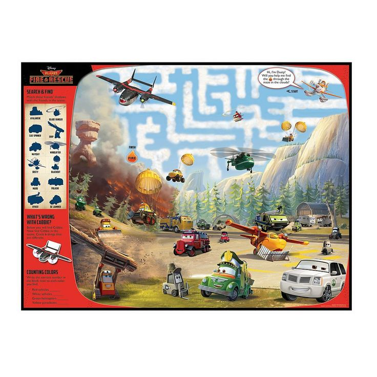 Disney's Planes Fire Rescue Giant Floor Mat by Kidsbooks, Multicolor