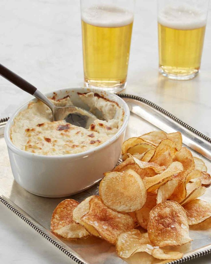 This hot seafood dip, served with potato chips, is an ode to the salt spray of the New England coast.