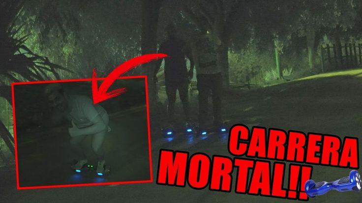 CARRERA MORTAL DE PATÍN ELÉCTRICO EN VISIÓN NOCTURNA | HOVERBOARD MEGAWH...