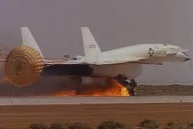 XB-70 Valkyrie Mach 3 bomber's emergency landing