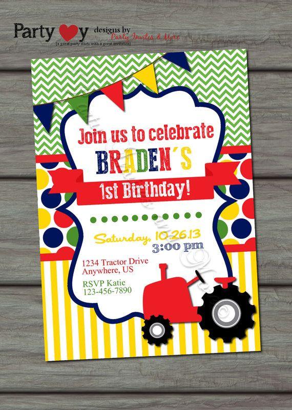 0b2e988991efea614f0548d2b9ad1bc4 tractor birthday invitations tractor birthday parties best 20 tractor birthday invitations ideas on pinterest,Tractor Birthday Party Invitations