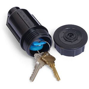 Sprinkler Hide-A-Key. Hide your keys by pushing them into the ground.