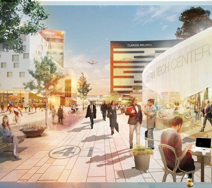 Airport City Stockholm Urban Design Strategy Proposal / Spacescape