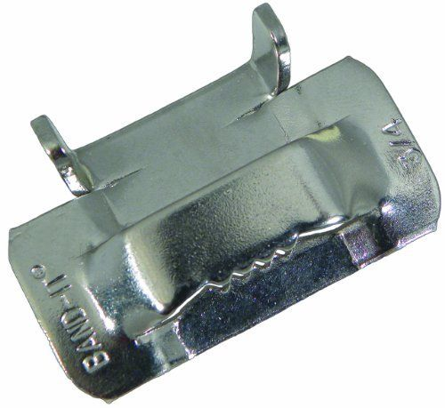 """BAND-IT C25699 201/301 Stainless Steel Ear-Lokt Buckle, 3/4"""" Width, 100 per Box by BAND-IT. Save 24 Off!. $105.59. BAND-IT Ear-Lokt Buckles can be used with many types of BAND-IT stainless steel banding providing superior fastening strength. Ear-Lokt Buckle for standard or heavy duty applications. Type 201 Stainless Steel, utilized in general use banding applications. Can hold a single or double wrapped band configuration. Band clamps can be formed over any contour or shape. ..."""