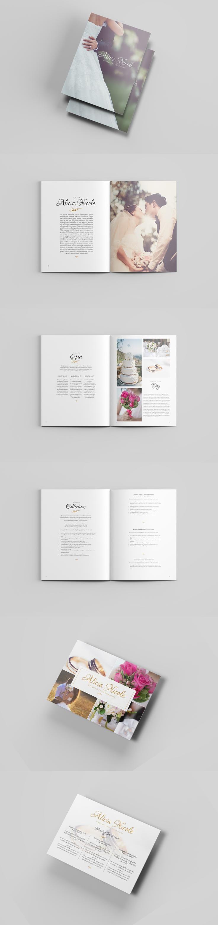 #magazine #design from Harrell Design Studio | DOWNLOAD: https://creativemarket.com/harrellds/534908-Wedding-Photography-Guide-Template?u=zsoltczigler