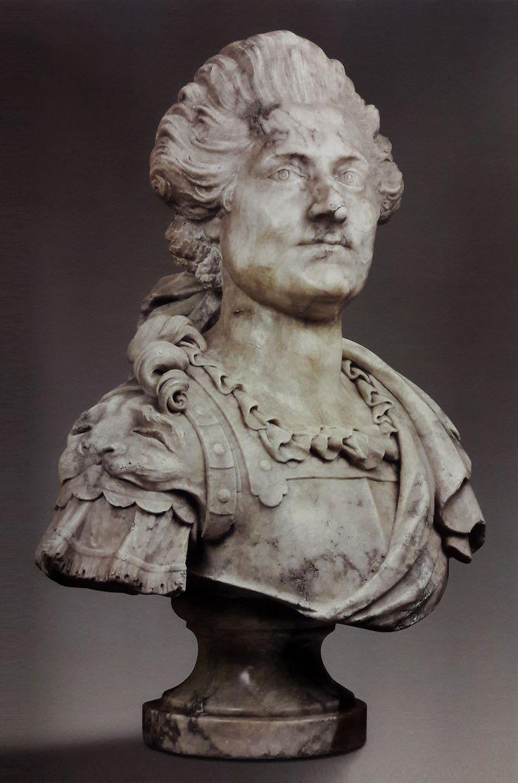 Alabaster bust of Stanislaus Augustus by Franciszek Pinck, ca. 1770, Muzeum Narodowe w Warszawie (MNW)