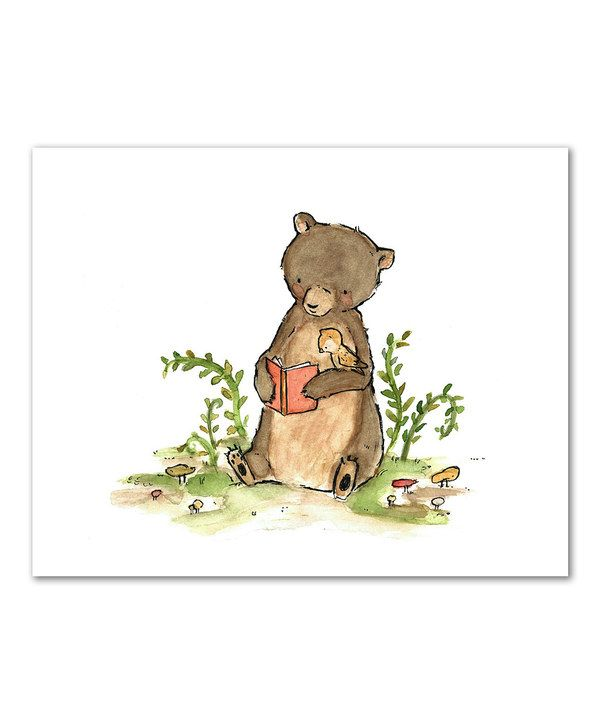 Another great find on #zulily! Woodland Read Print by trafalgar's square #zulilyfinds