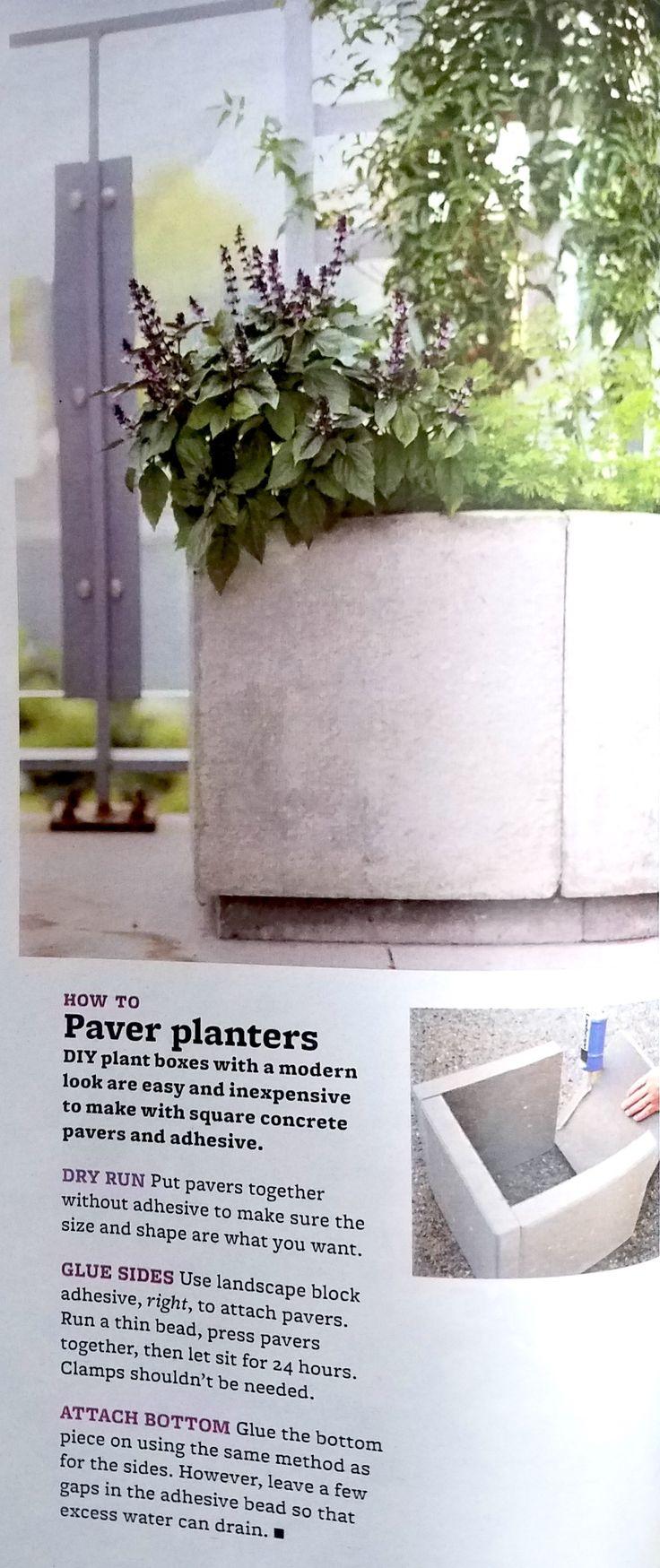 Best 25 concrete glue ideas on pinterest geometric candle genius garden hack use concrete glue to affix garden pavers together for concrete planters in baanklon Images