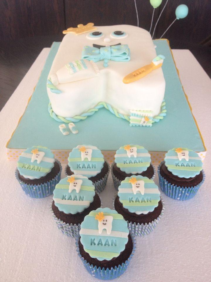 First Tooth Cupcakes / Diş Buğdayı Temalı Mini Kekler