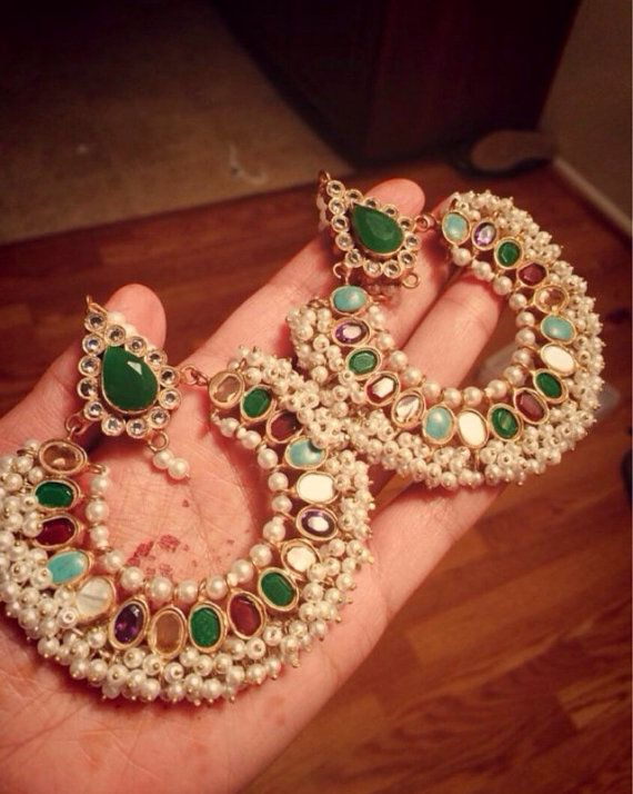 Ram Leela Bal Kundun Gold Pakistani Indian Jewelery by HQJewels