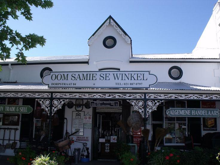 Oom Samie se winkel / uncle Samie's shop in Stellenbosh. What an adventure back in time