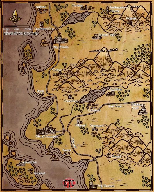 Map 58 – Somewhere in the Sword Coast