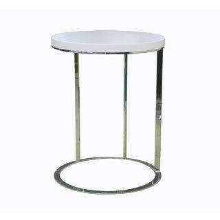 Round White Chrome Side Table Coffee Tables In 2018 Pinterest