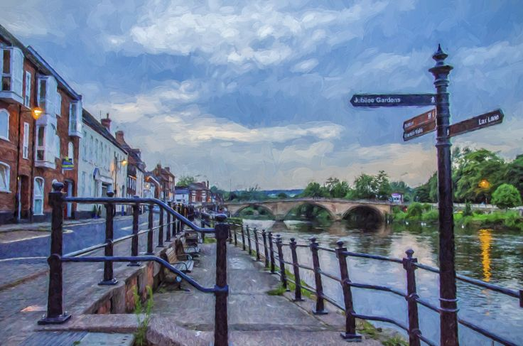 Photo-painting of the Bewdley, England riverfront and bridge using Topas Lab's 'Impressions' plug-in for Photoshop. My home town of Clarksville, Indiana is a Sister City to Bewdley. This photo was taken on a 2012 visit.