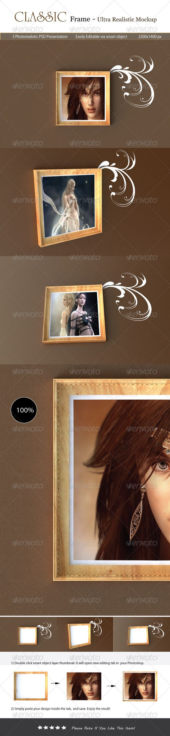 Classic Frame Mockup  #GraphicRiver         Classic Frame Mockup make your poste…   – Graphics