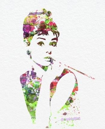 Audrey Hepburn ~ Movie Art by NAXART.COM
