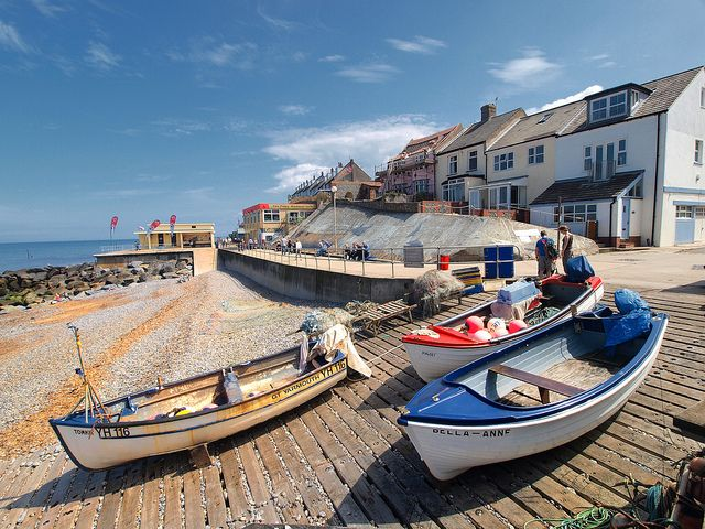 : : east anglia : : Sheringham beach, Norfolk.