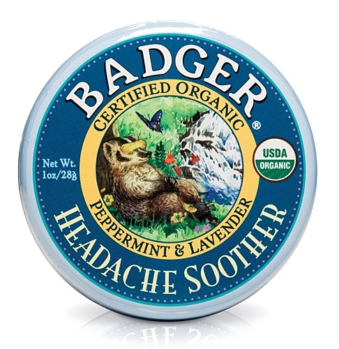 Badger Balm Headache Soother.  Just started using this on my last couple of headaches. Really did help. Smells great too!