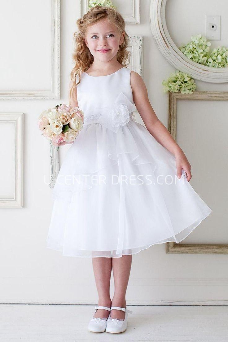 75 best junior bridesmaid dress images on pinterest junior 5963 lovelytea length floral bowed appliqued laceorganza white long junior bridesmaid dress http ombrellifo Choice Image