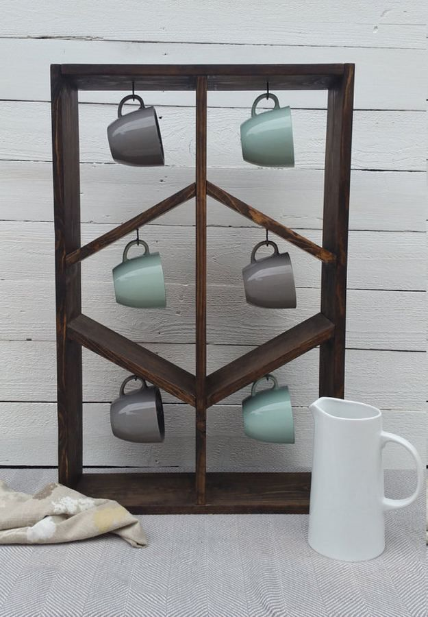 1000 ideas about coffee mug storage on pinterest diy for Mug racks ideas
