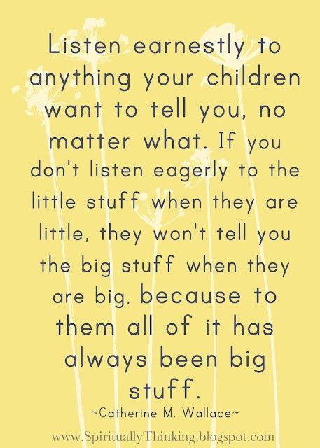 Listen to children