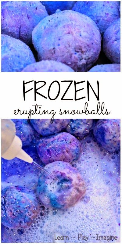 How to make FROZEN snowballs that ERUPT and fizz!