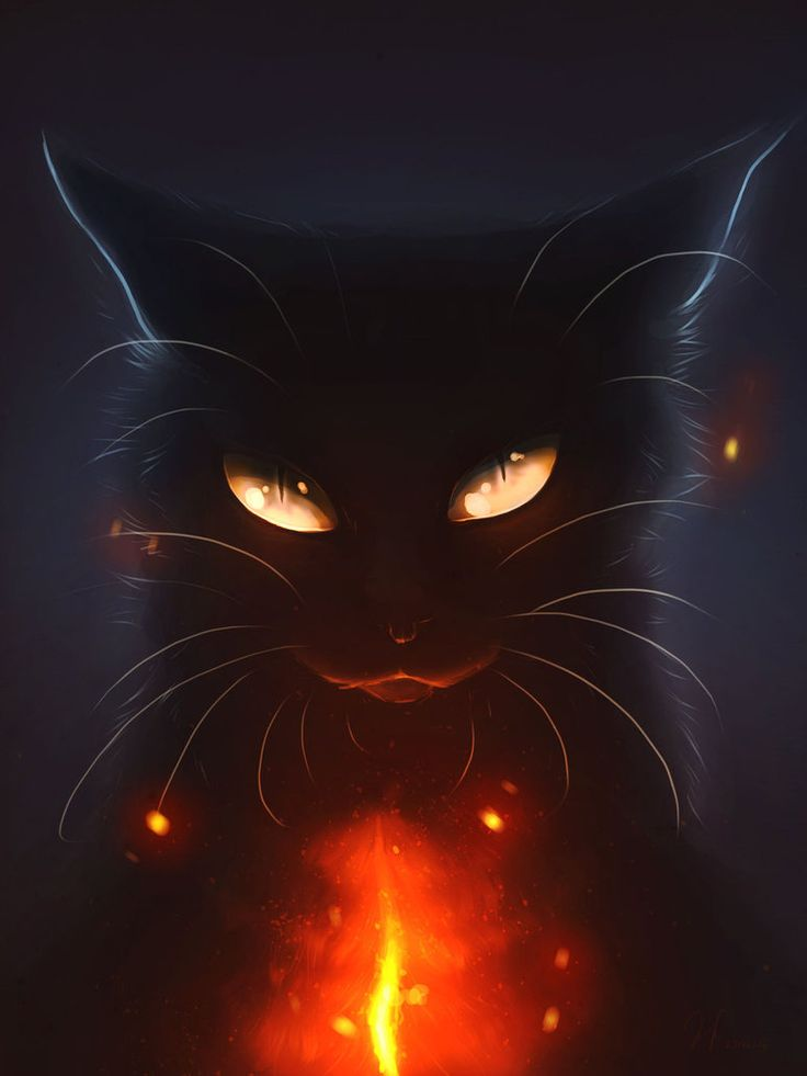 Heart's Blood... by Mizu-no-Akira on DeviantArt. I was attracted to this work for similar reason as another I posted previously; the stark contrast between the dark and light. The demonic and secretive nature of the feline, highlighted by the bright streak of red creates a sense of mystery. The eyes of the feline are additionally well done.