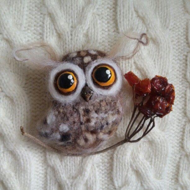 #фелтинг#арт#felt#brooch#cова#совушка#совы#owl#валяние#art#handmade#miraclewool#helena#москва#moscow#назаказ#купить