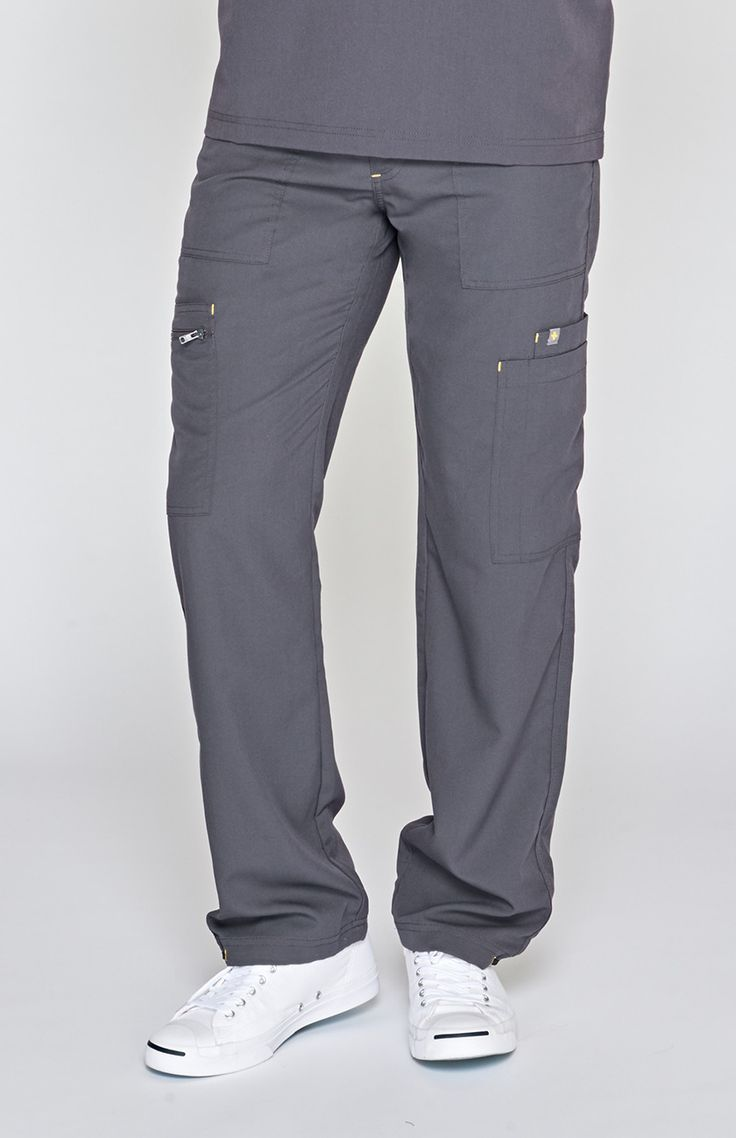 men's tela cargo scrub pants - charcoal